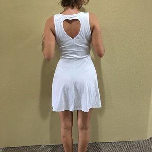 Rebellious One Dresses - White baby doll flair dress